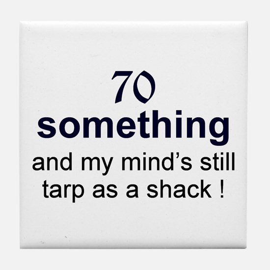 70 Something Tile Coaster