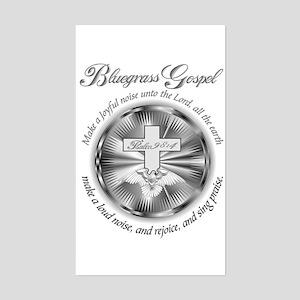 PSALM 98:4 BLUEGRASS Rectangle Sticker