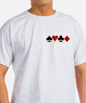 Poker! Ash Grey T-Shirt