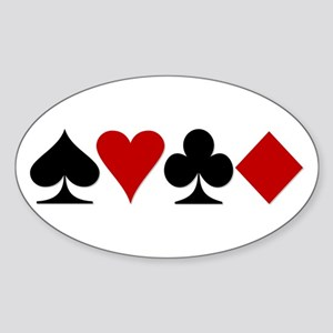 Poker! Oval Sticker