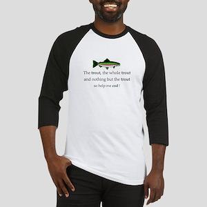 Trout Fishing Baseball Jersey