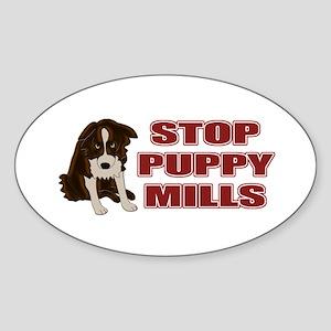 Stop Puppy Mills Sticker (Oval)