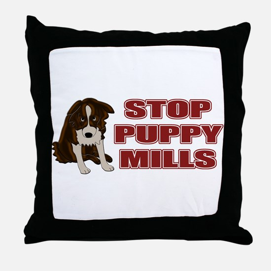 Stop Puppy Mills Throw Pillow