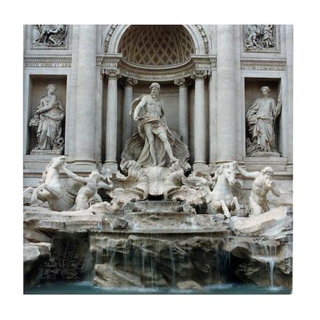 Trevi Fountain, Rome Italy Tile Coaster