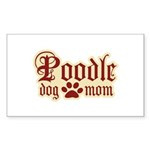 Poodle Mom Sticker (Rectangle 50 pk)
