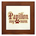 Papillon Mom Framed Tile