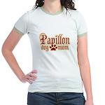 Papillon Mom Jr. Ringer T-Shirt