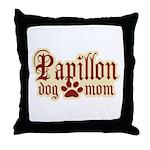 Papillon Mom Throw Pillow