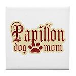 Papillon Mom Tile Coaster
