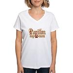 Papillon Mom Women's V-Neck T-Shirt
