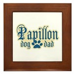 Papillon Dad Framed Tile