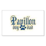 Papillon Dad Sticker (Rectangle 10 pk)