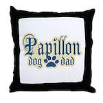 Papillon Dad Throw Pillow