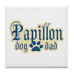 Papillon Dad Tile Coaster