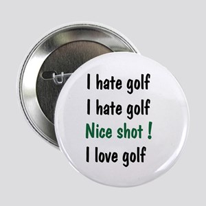 "I Hate/Love Golf 2.25"" Button (10 pack)"