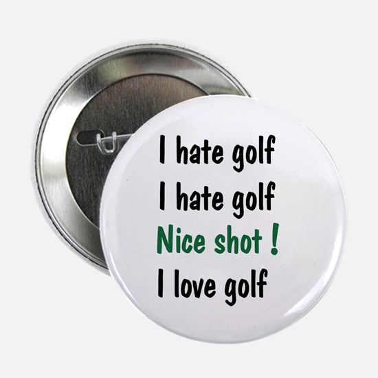 """I Hate/Love Golf 2.25"""" Button (10 pack)"""