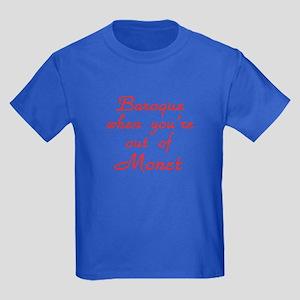 Baroque-Monet-Red Kids Dark T-Shirt