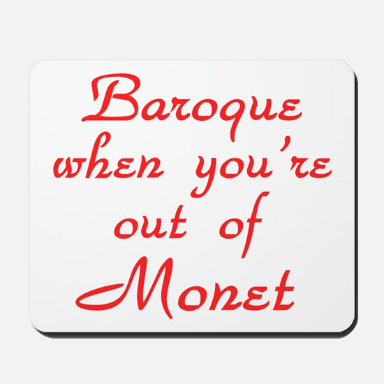 Baroque-Monet-Red Mousepad