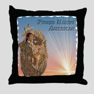 Proud NA at Sunrise Throw Pillow