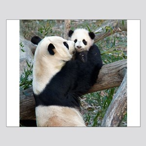 Mom & Baby Giant Pandas Small Poster
