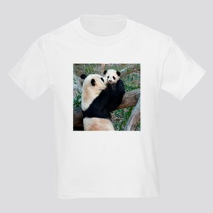 Mom & Baby Giant Pandas Kids Light T-Shirt