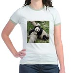Mom & Baby Giant Pandas Jr. Ringer T-Shirt