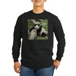 Mom & Baby Giant Pandas Long Sleeve Dark T-Shirt