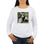 Mom & Baby Giant Pandas Women's Long Sleeve T