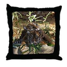 Sumatran Tigers Throw Pillow