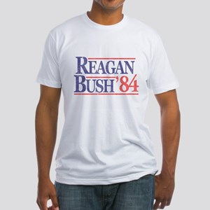 Reagan Bush '84 Fitted T-Shirt