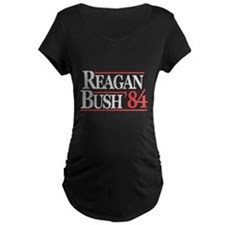 Reagan Bush '84 Maternity Dark T-Shirt