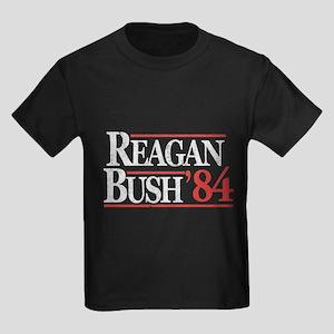 Reagan Bush '84 Kids Dark T-Shirt