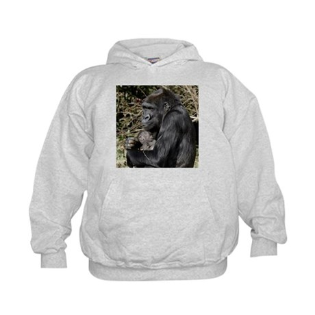 Mom and Baby Gorilla Kids Hoodie
