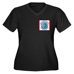 Texas-5 Women's Plus Size V-Neck Dark T-Shirt