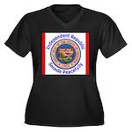 Arizona-5 Women's Plus Size V-Neck Dark T-Shirt