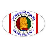 Alabama-5 Oval Sticker (50 pk)