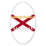 Alabama-4 Oval Sticker (50 pk)