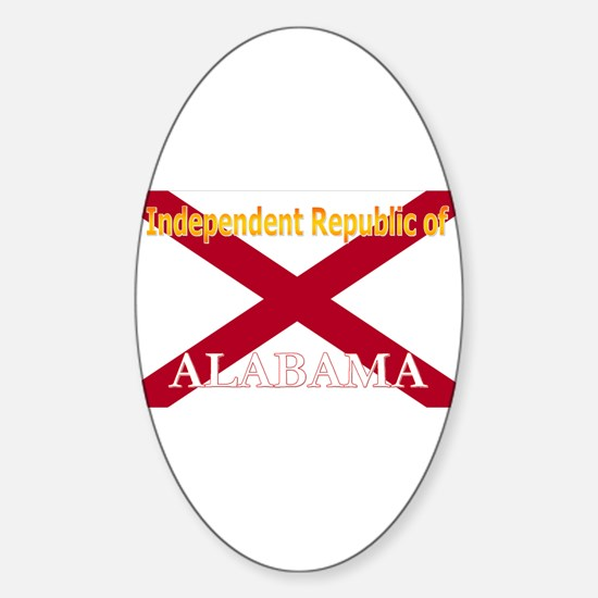 Alabama-4 Oval Decal