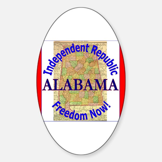Alabama-3 Oval Decal