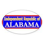 Alabama-2 Oval Sticker (50 pk)