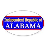Alabama-2 Oval Sticker (10 pk)