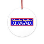 Alabama-2 Ornament (Round)