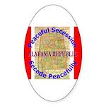 Alabama-1 Sticker (Oval 50 pk)