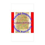 Alabama-1 Sticker (Rectangle 10 pk)