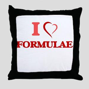 I love Formulae Throw Pillow