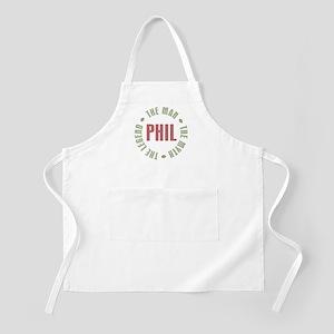 Phil the Man Myth Legend BBQ Apron