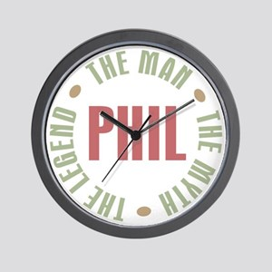 Phil the Man Myth Legend Wall Clock