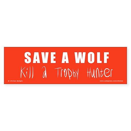 SAVE A WOLF Sticker (10)