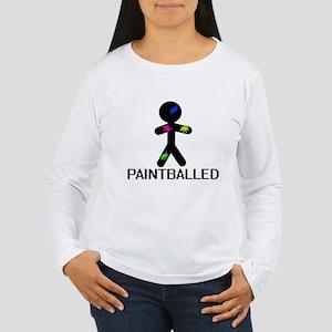 Paint Balled Women's Long Sleeve T-Shirt