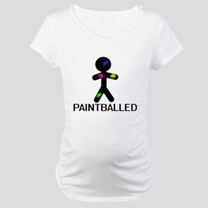 Paint Balled Maternity T-Shirt